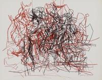 Horseman, Robert Goodnough, crayon lithograph on wove paper