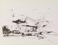 Landscape, John Heliker, lithograph