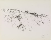 Cliff, John Heliker, crayon lithograph on Arches paper