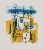 Interior by the Sea, Fannie Hillsmith, lithograph on Arches paper