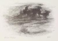 Trees Landscape, Richard Mayhew, lithograph