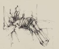 Figure Study, Michael Mazur, lithograph on Arches wove paper