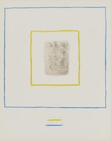 Two People in Bed, Costantino Nivola, crayon and ink lithograph on laid paper