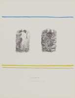 Two Beds, Costantino Nivola, crayon and tusche lithograph on Arches paper