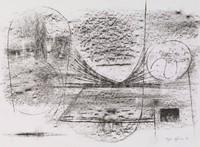 Rubbing #1, Bernard Pfriem, lithograph