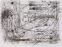 Rubbing #2, Bernard Pfriem, lithograph