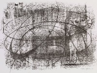 Rubbing #4, Bernard Pfriem, lithograph
