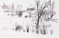 Snow Landscape, Fairfield Porter, lithograph