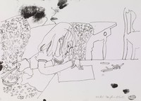 Child Drawing, Fairfield Porter, lithograph