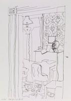 Interior, Fairfield Porter, lithograph