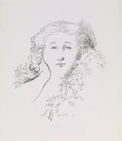 Portrait - Woman, Alvin Ross, lithograph