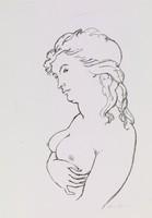Female Nude, Alvin Ross, lithograph