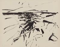 Monhegan Shoreline, Reuben Tam, lithograph