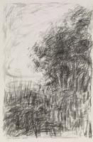 Landscape, Jane Wilson, crayon lithograph