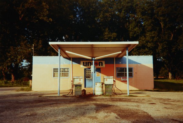 Union Station, near Greensboro, Alabama, 1977, William Christenberry, chromogenic print