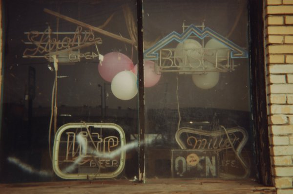 Signs and Balloons, Memphis, Tennessee, 1993, William Christenberry, chromogenic print