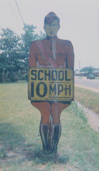 School Speed Sign, Aliceville, Alabama, 1964, William Christenberry, chromogenic print