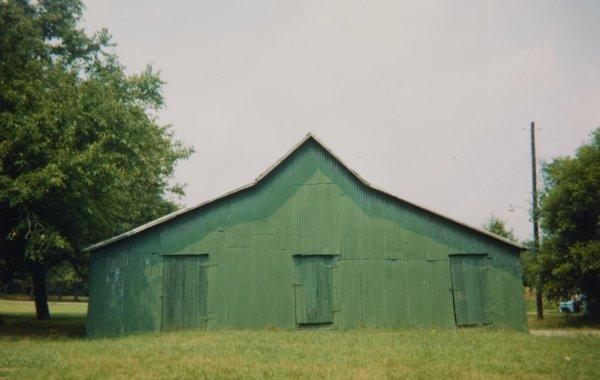 Green Warehouse, Newbern, Alabama, 1978, William Christenberry, chromogenic print