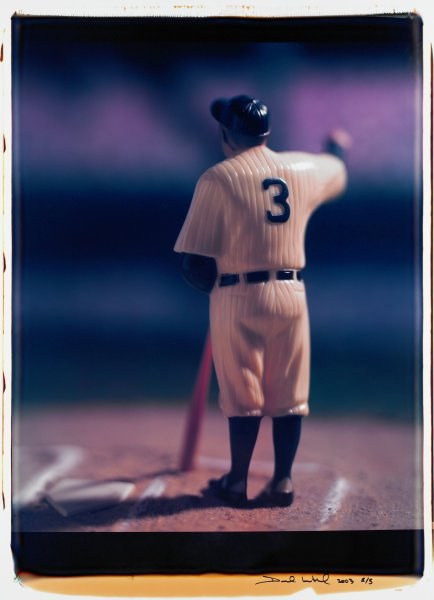 """Untitled, from the series """"Baseball"""" [Babe Ruth], David Levinthal, Polaroid (Polacolor ER Land Film print)"""