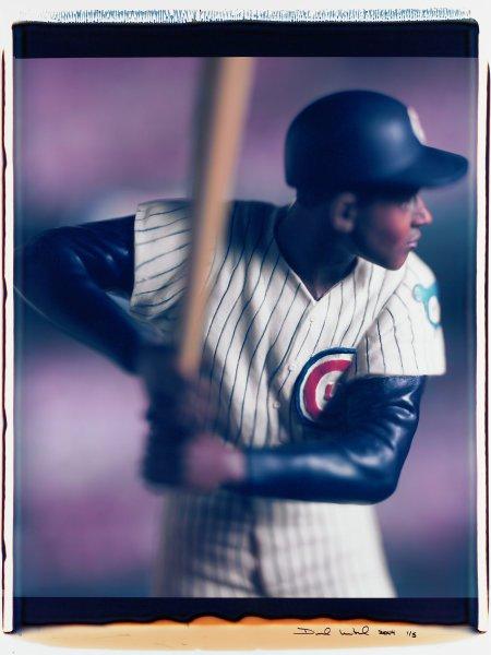 "Untitled, from the series ""Baseball"" [Ernie Banks], David Levinthal, Polaroid (Polacolor ER Land Film print)"