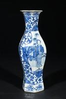 Vase, China, glazed porcelain with underglaze blue decoration