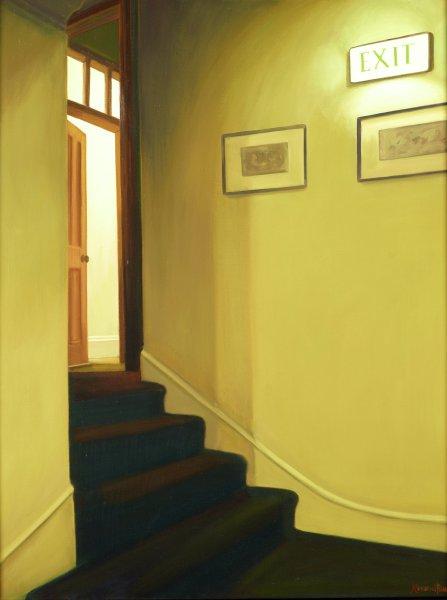 Exit, Dale Kennington, oil on canvas