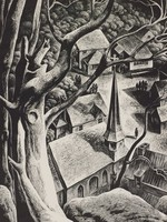 Undercliff, Lynd Kendall Ward, wood engraving