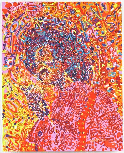 Revolutionary, Wadsworth A. Jarrell Sr., color screenprint on wove paper