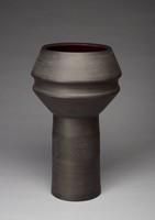 Vase, Designed by David Puxley, Wedgwood, stoneware (black basalt)