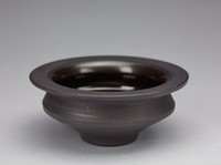 Bowl, David Puxley, Wedgwood, stoneware (black basalt) with glazed interior