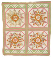 Four Stars/Stripping quilt, at least 150 years old, sold to Cargo by Mrs. George H. Styles, September 28, 1983
