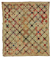 Unknown pattern, fine old fabric, squares and blocks