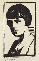 Katherine Mansfield, M. R. Hubbert Smith, linocut
