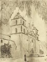 Spanish-Style Church, M. R. Hubbert Smith, etching