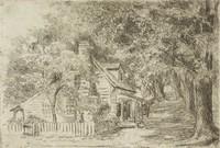 Quarter House, Williamsburg, Virginia, Alice Rumph, etching