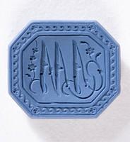 """Octagonal blue jasper intaglio or cypher """"W V"""""""