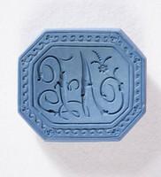Octagonal blue jasper intaglio or cypher