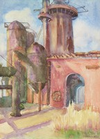 Trussville Furnace, Carrie Hill, watercolor on paper