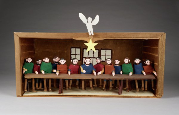 The Last Supper, Fred Webster, painted wood