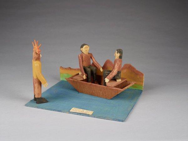 Jesus Walking on Water, Fred Webster, painted wood