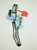 Brushstroke V, Roy Lichtenstein, painted cherry wood