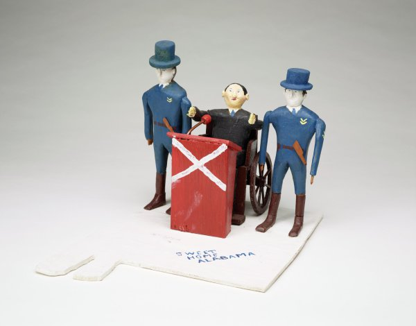 George Wallace in Wheelchair, Fred Webster, painted wood