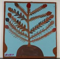 """Maypop"" Tree, Mose Tolliver, paint on wood board"
