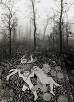 Angel Carpet, Jerry Uelsmann, gelatin silver print