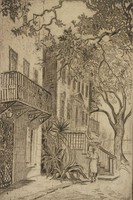 On South Bottom, Charleston, Elizabeth O'Neill Verner, etching