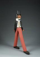 Abraham Lincoln (walking), Rev. J. L. Hunter, painted wood