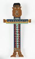 Cross-shaped male figure
