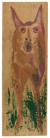 Untitled (Dog), Jimmy Lee Sudduth, paint and mud on wood board
