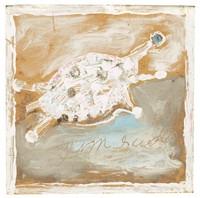 Untitled (Turtle), Jimmy Lee Sudduth, paint and mud on linoleum