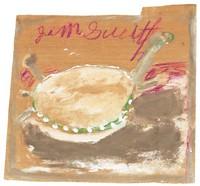 Untitled (Turtle), Jimmy Lee Sudduth, paint and mud on wood board
